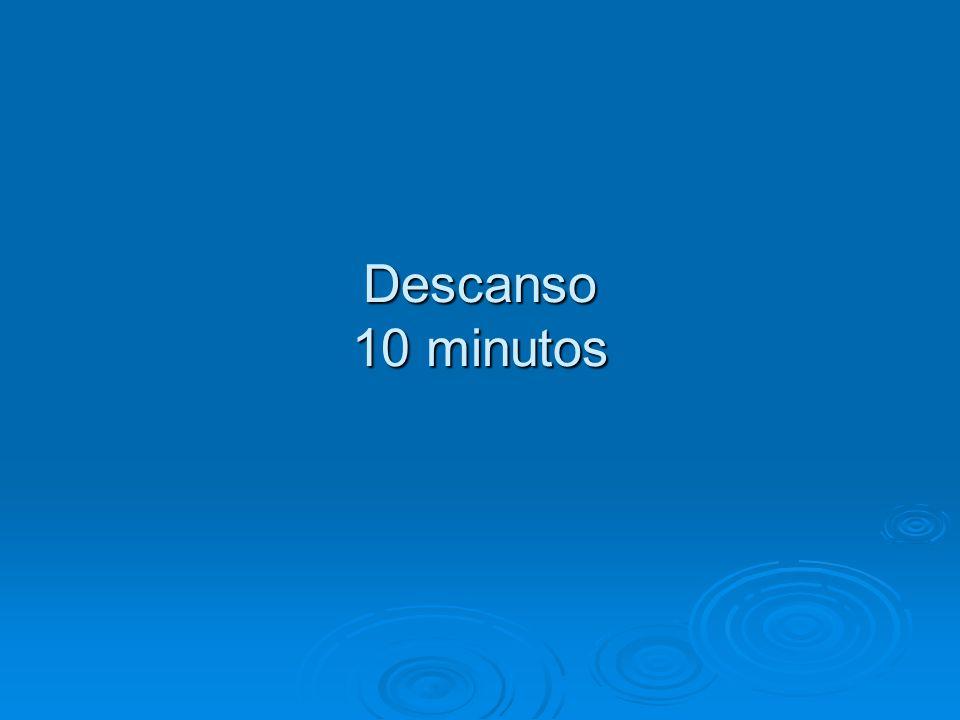 Descanso 10 minutos 10:45 – 10:55