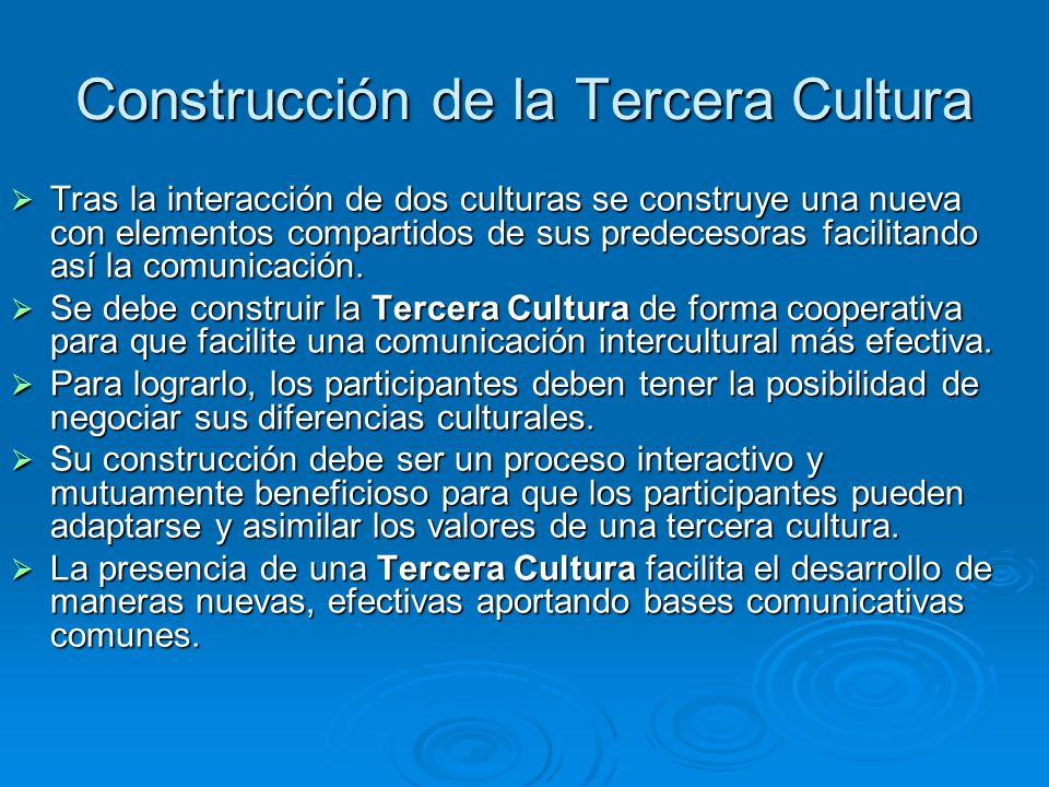 Construcción de la Tercera Cultura