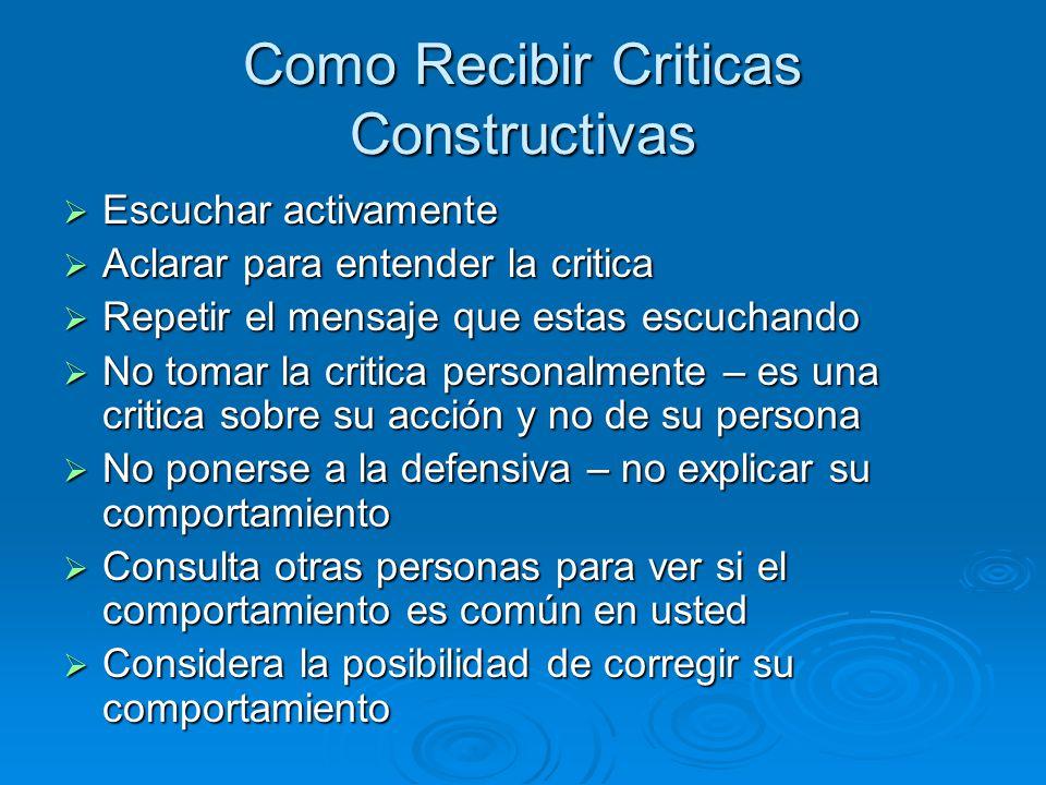 Como Recibir Criticas Constructivas