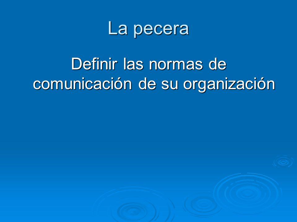 Definir las normas de comunicación de su organización