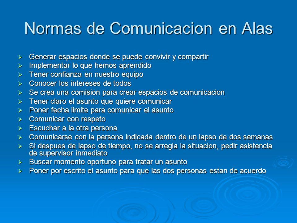 Normas de Comunicacion en Alas