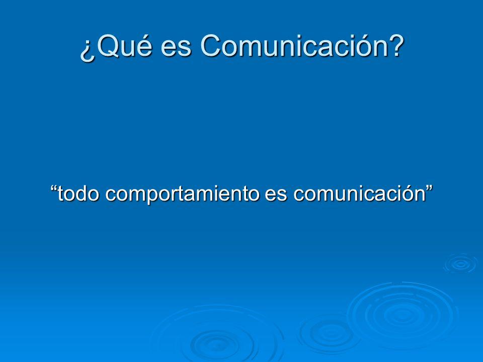 todo comportamiento es comunicación