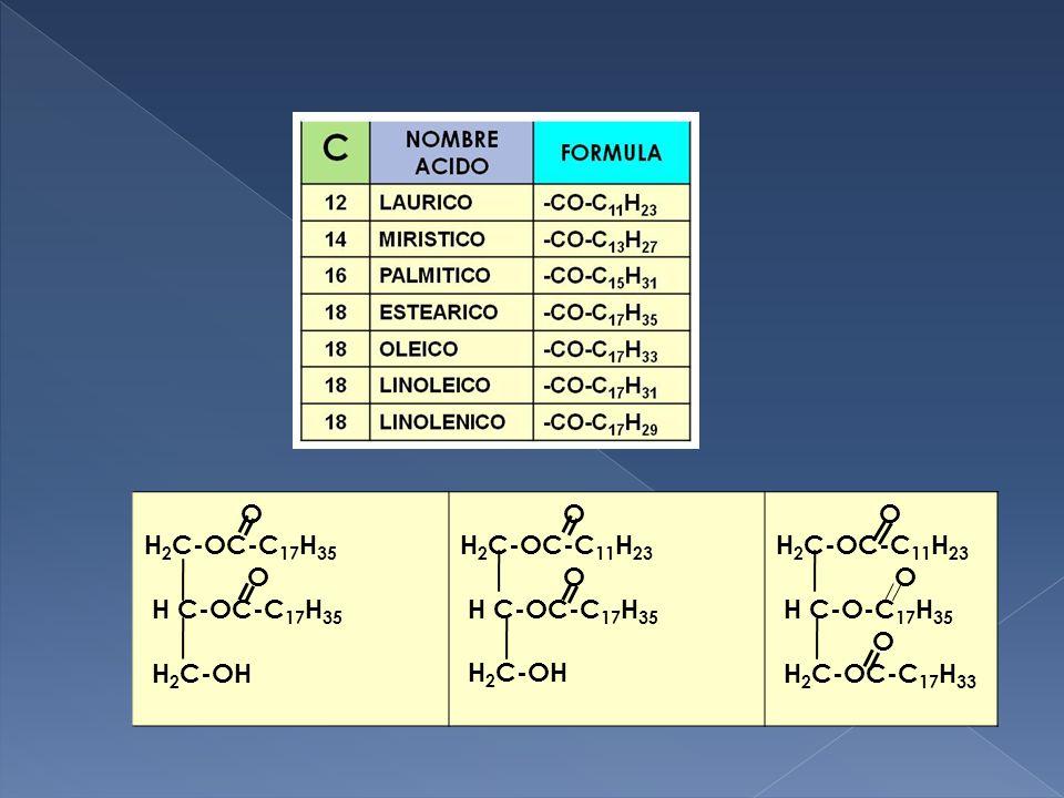O H2C-OC-C17H35 H C-OC-C17H35 H2C-OH H2C-OC-C11H23 H C-O-C17H35 H2C-OC-C17H33