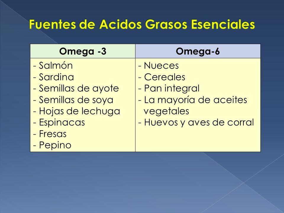 Fuentes de Acidos Grasos Esenciales