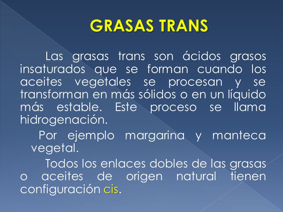 GRASAS TRANS