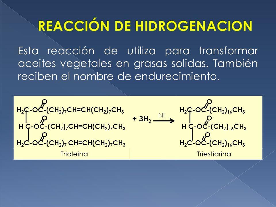 REACCIÓN DE HIDROGENACION
