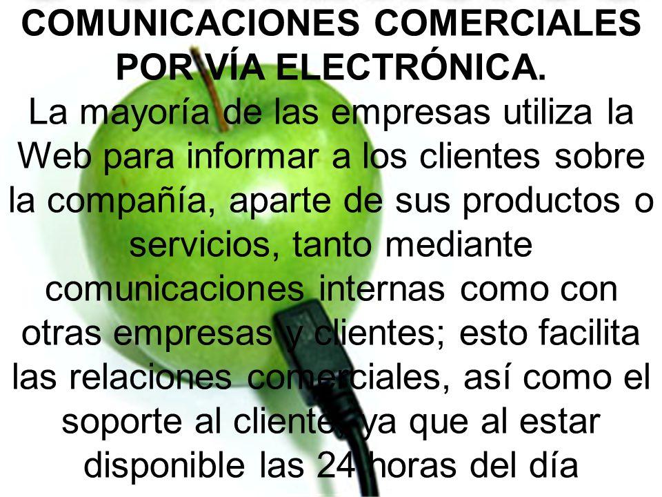 COMUNICACIONES COMERCIALES POR VÍA ELECTRÓNICA