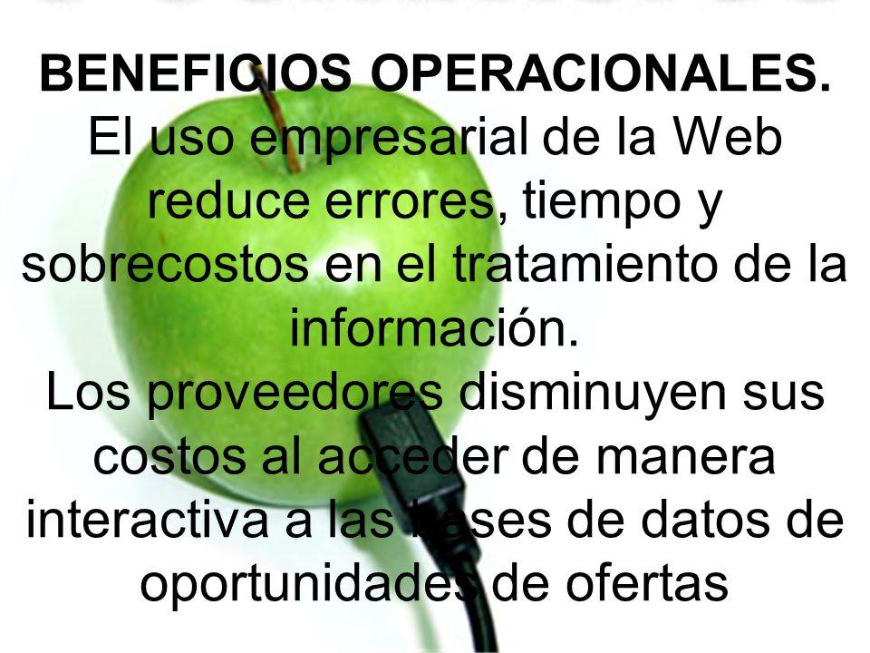 BENEFICIOS OPERACIONALES