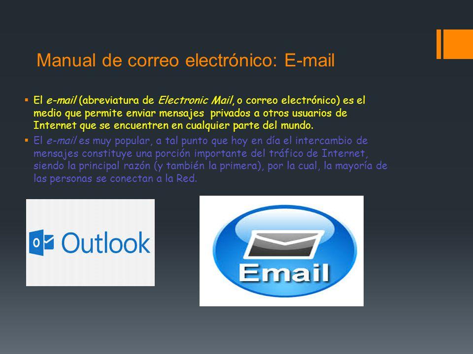 Manual de correo electrónico: E-mail