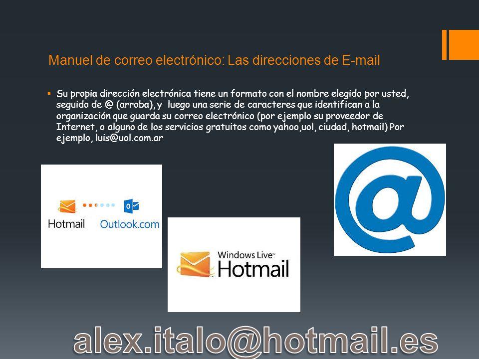 Manuel de correo electrónico: Las direcciones de E-mail