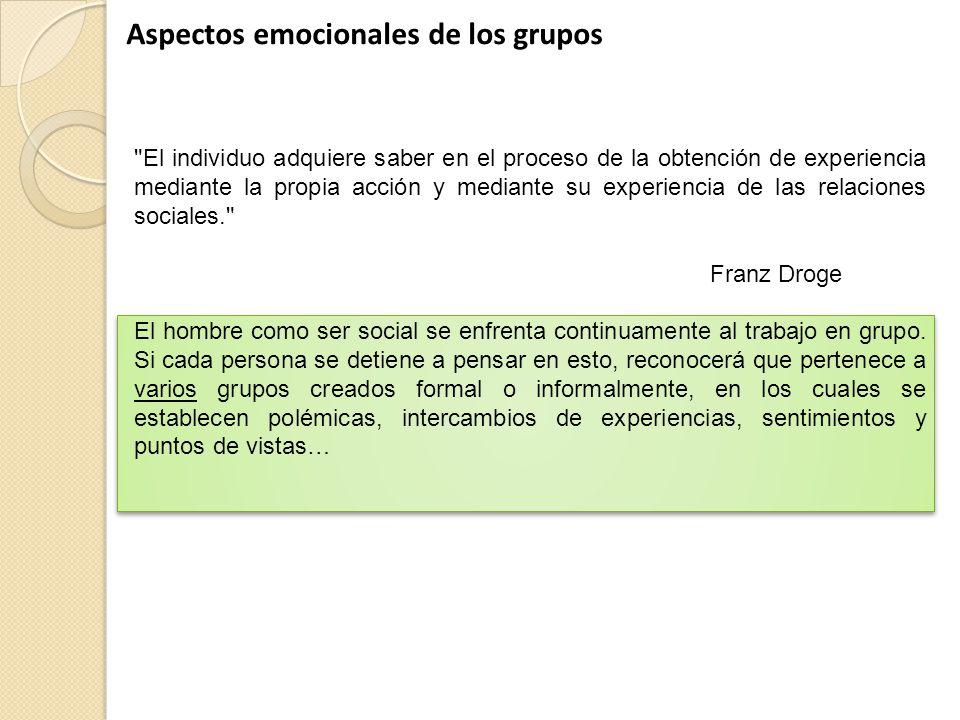Aspectos emocionales de los grupos