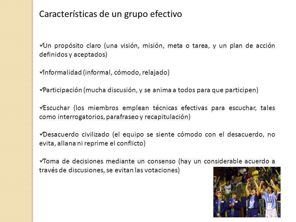 Características de un grupo efectivo