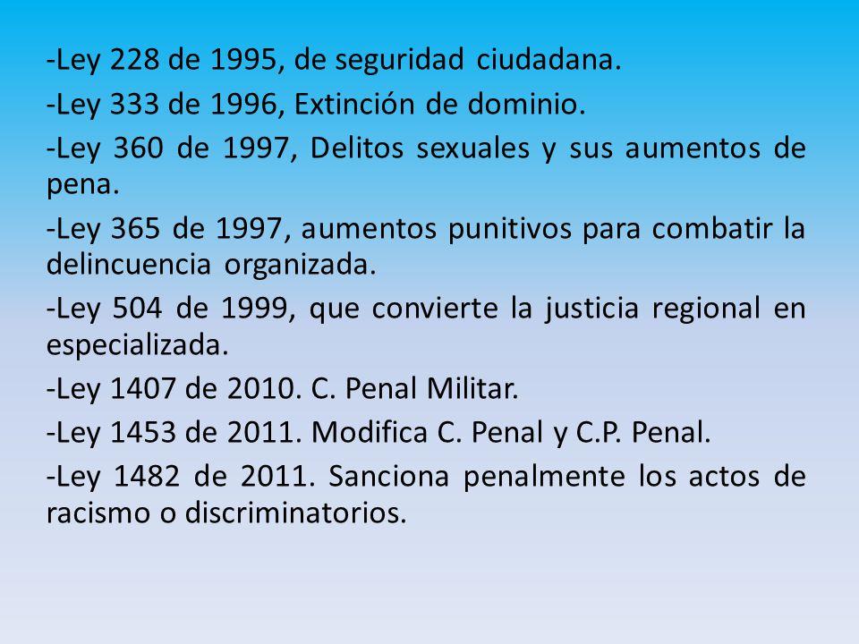 -Ley 228 de 1995, de seguridad ciudadana