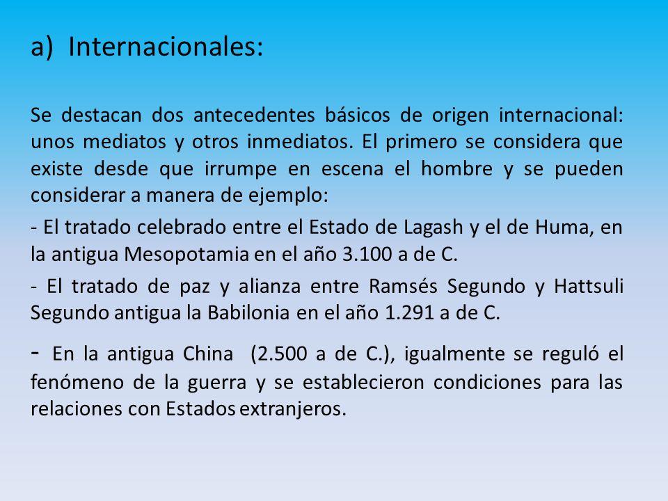 Internacionales: