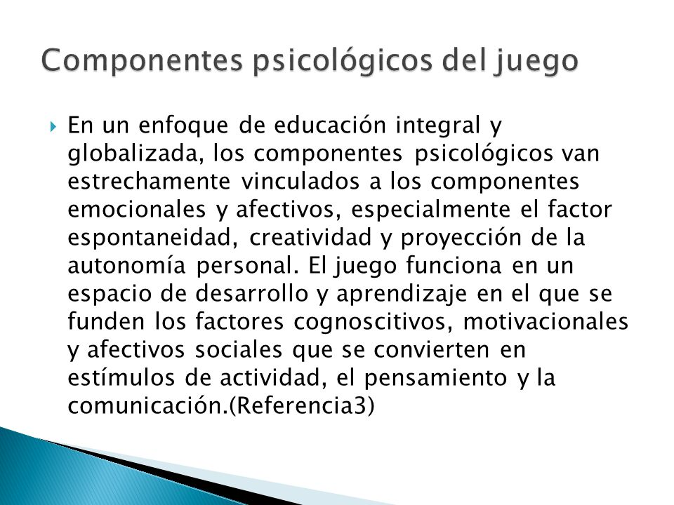 Componentes psicológicos del juego