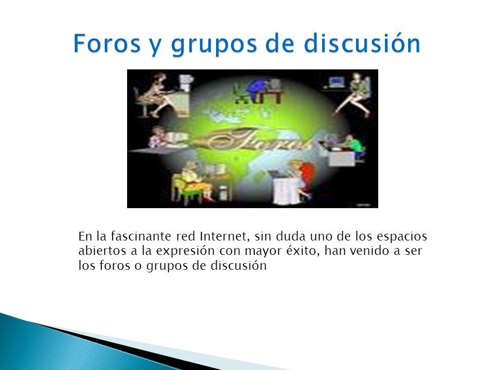 Foros y grupos de discusión