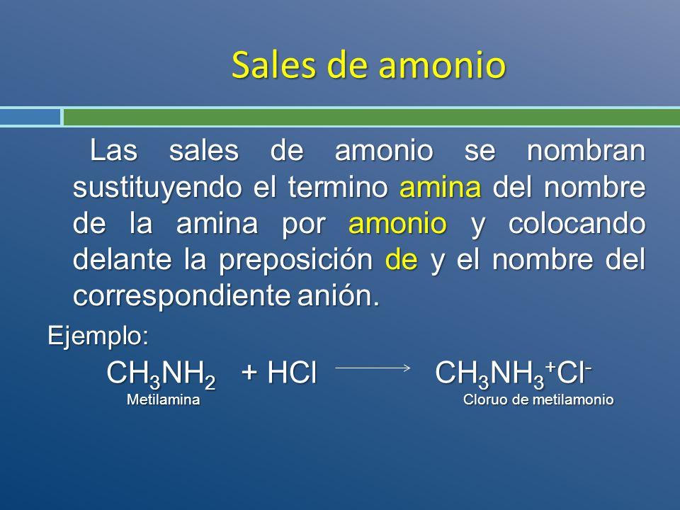 Sales de amonio