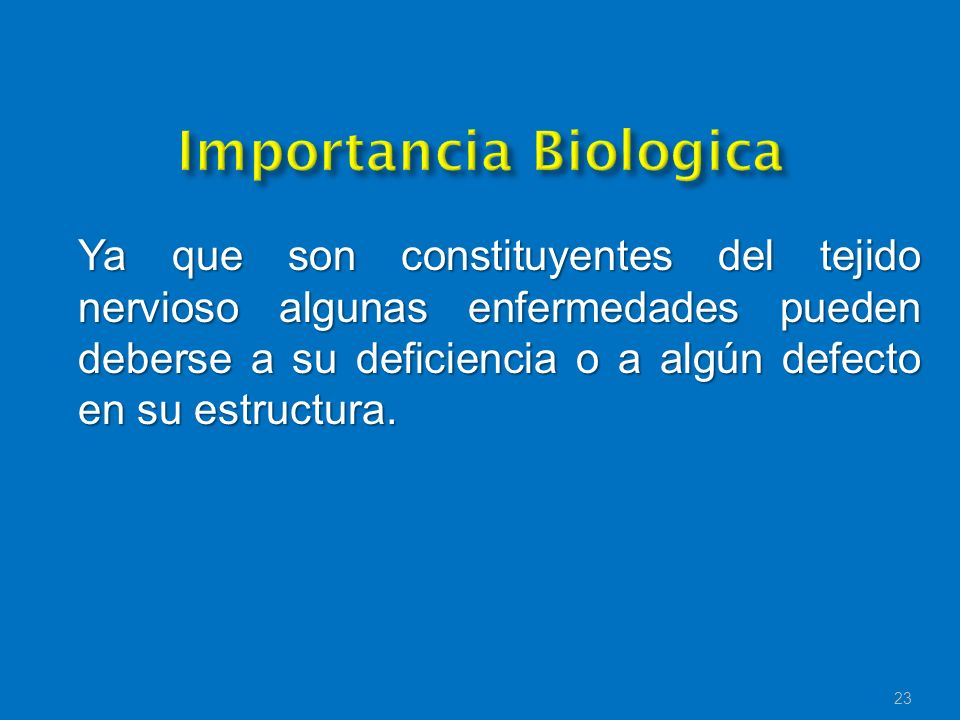 Importancia Biologica