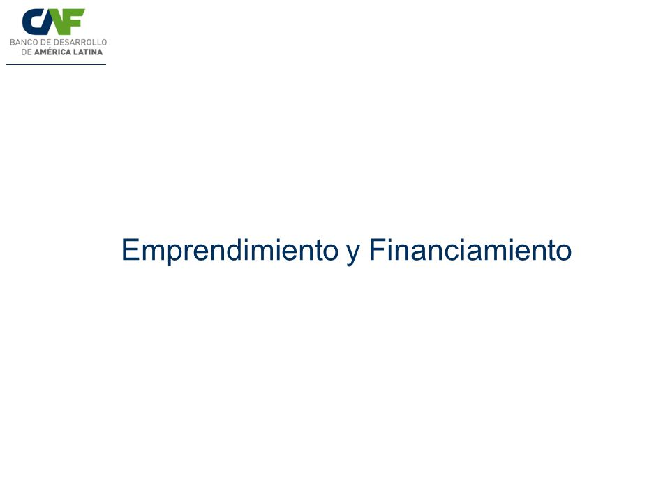 Emprendimiento y Financiamiento