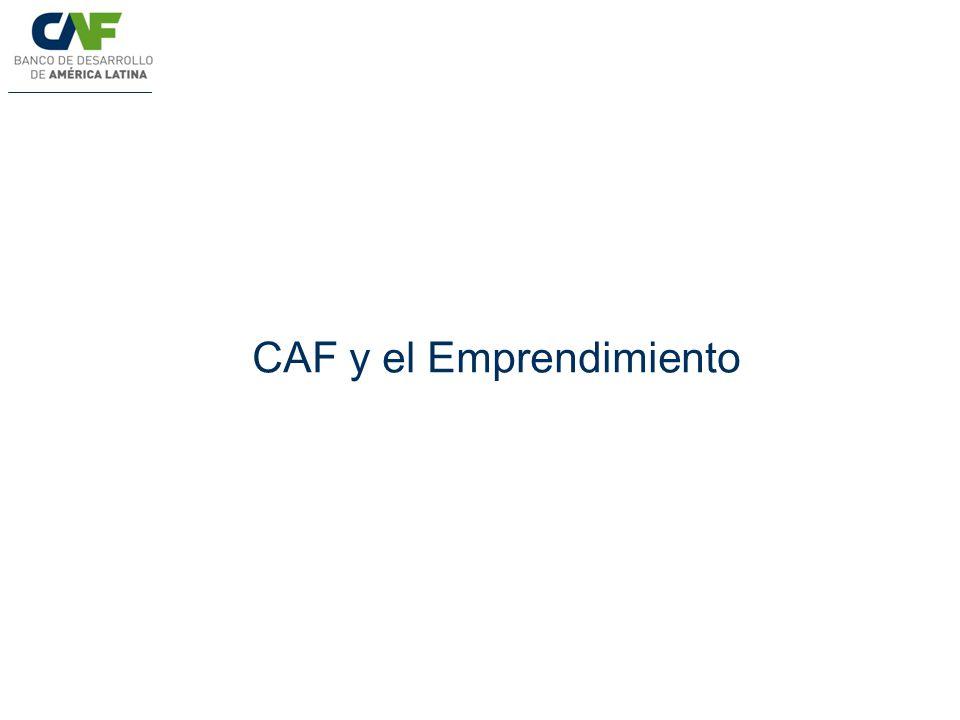 CAF y el Emprendimiento