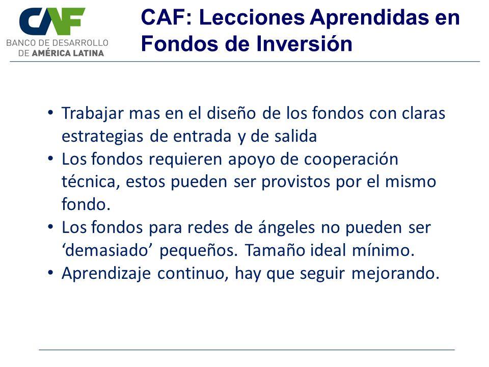 CAF: Lecciones Aprendidas en Fondos de Inversión