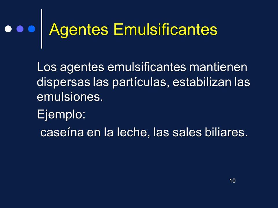 Agentes Emulsificantes