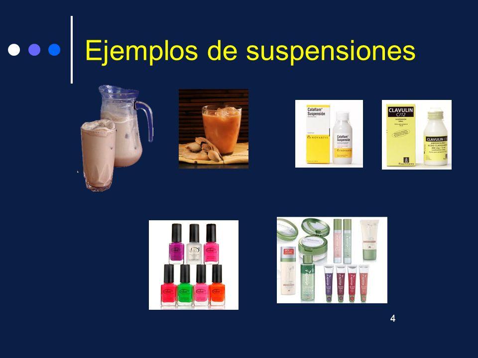Ejemplos de suspensiones