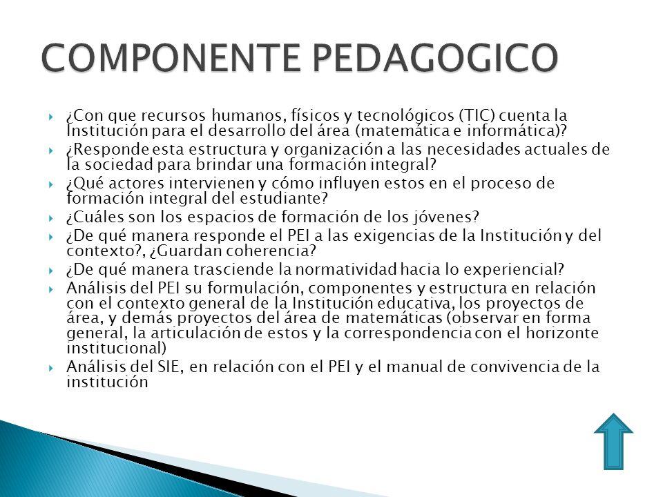 COMPONENTE PEDAGOGICO