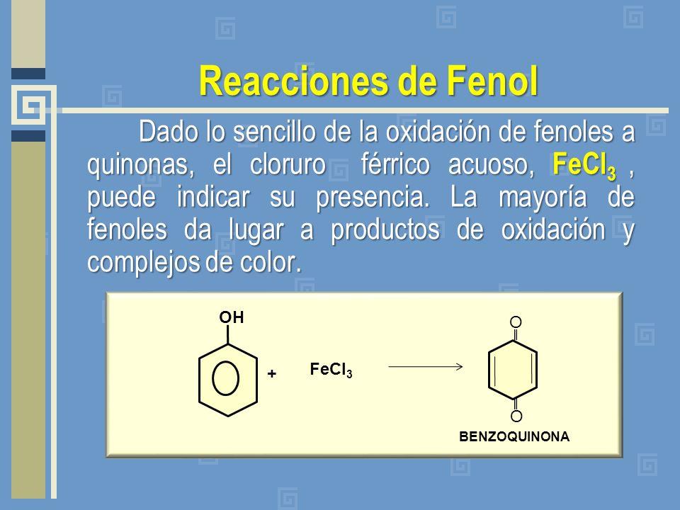 Reacciones de Fenol