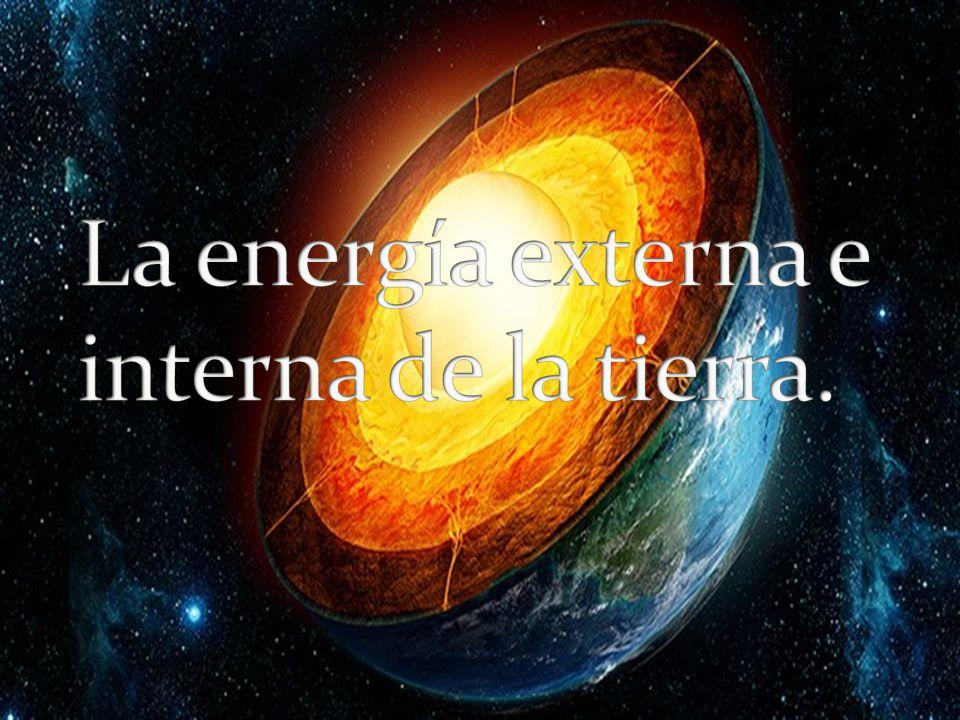 La energía externa e interna de la tierra.