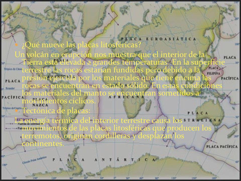 ¿Qué mueve las placas litosféricas