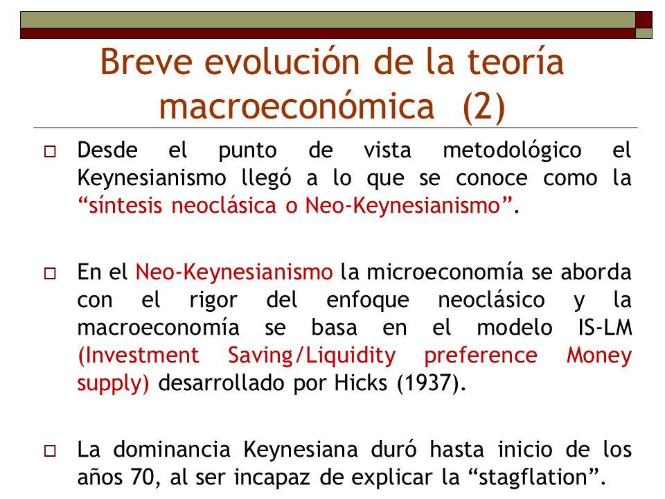 Breve evolución de la teoría macroeconómica (2)