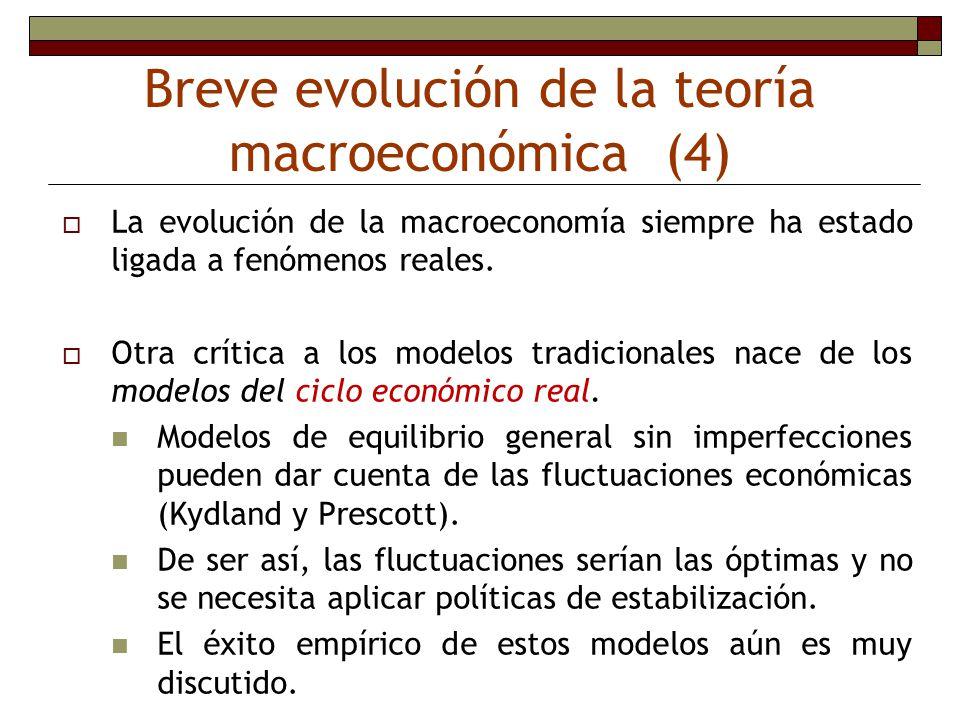 Breve evolución de la teoría macroeconómica (4)