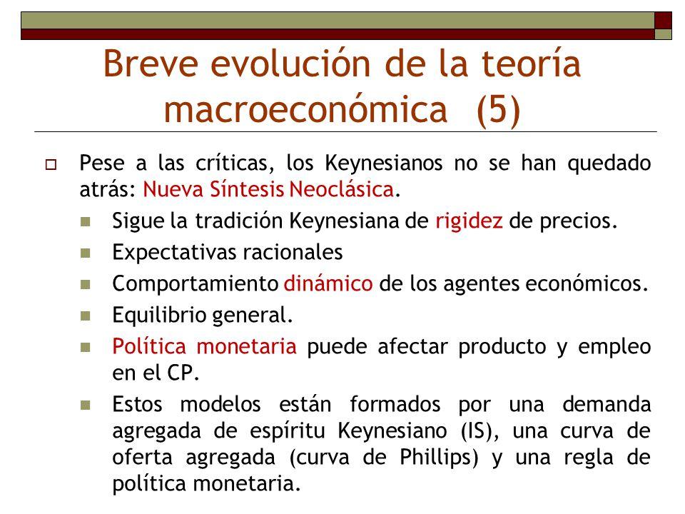 Breve evolución de la teoría macroeconómica (5)