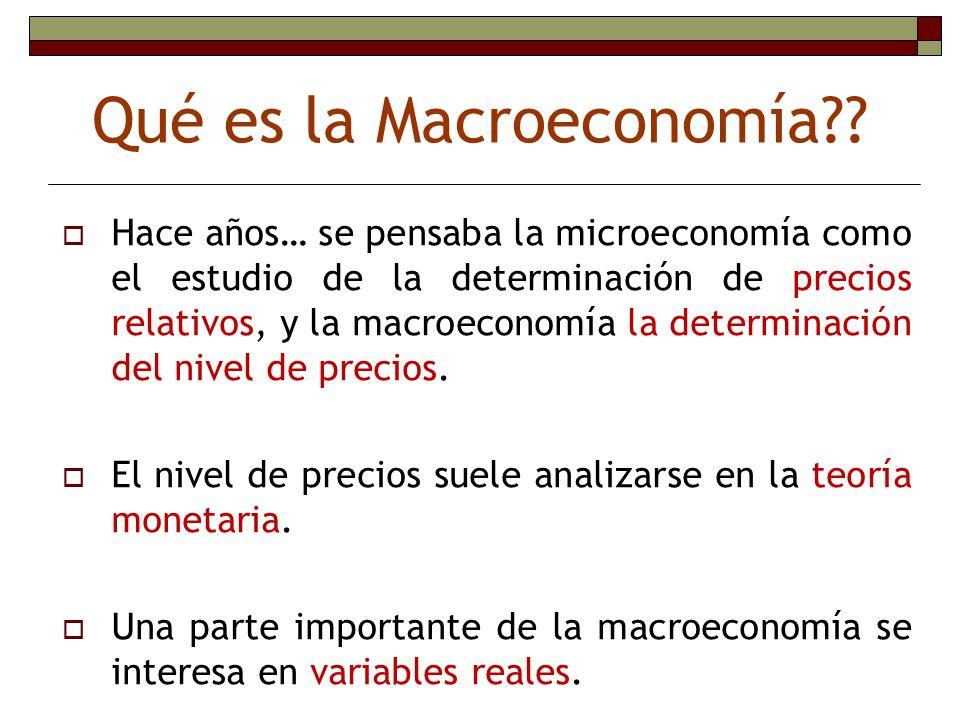 Qué es la Macroeconomía