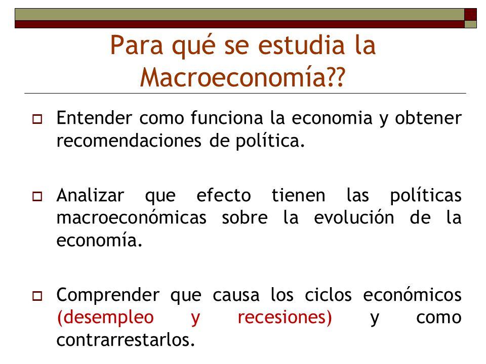 Para qué se estudia la Macroeconomía