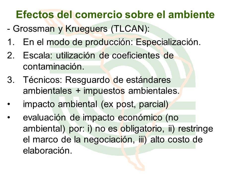 Efectos del comercio sobre el ambiente