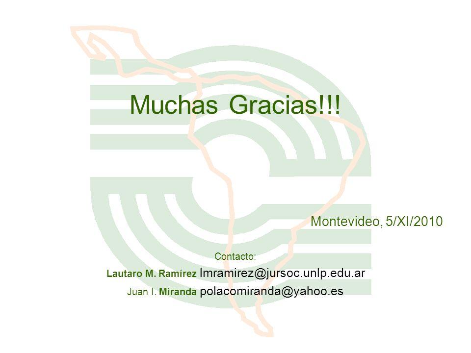 Muchas Gracias!!! Montevideo, 5/XI/2010 Contacto: