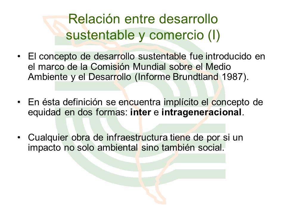Relación entre desarrollo sustentable y comercio (I)