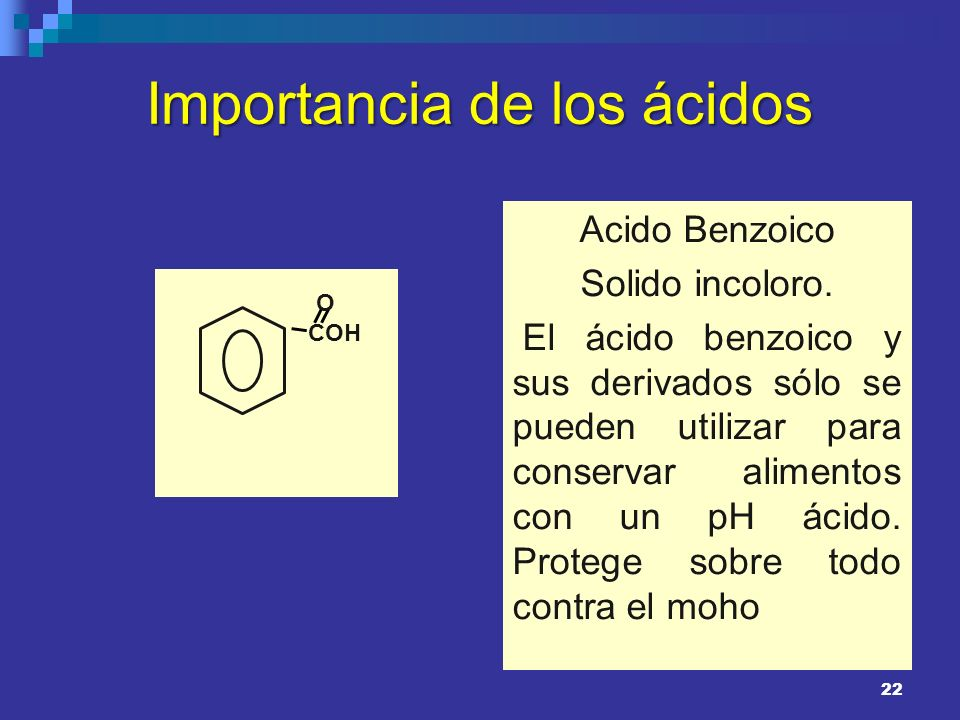 Importancia de los ácidos