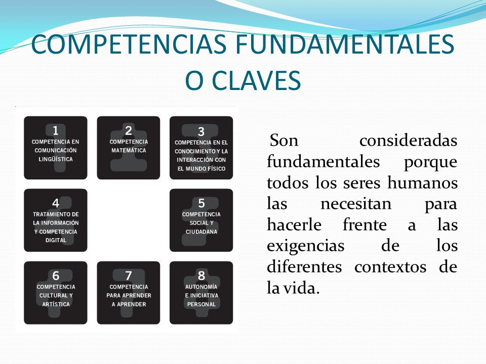 COMPETENCIAS FUNDAMENTALES O CLAVES