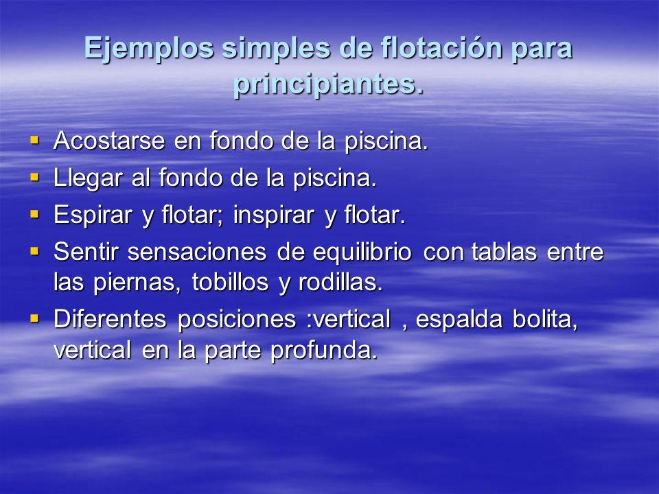 Ejemplos simples de flotación para principiantes.