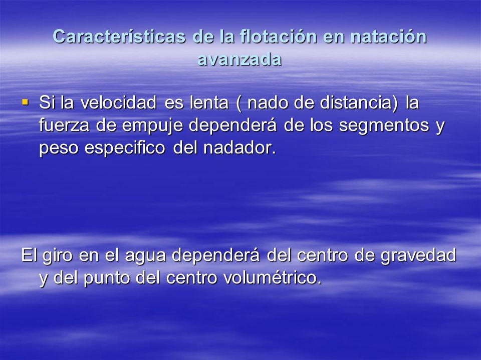 Características de la flotación en natación avanzada