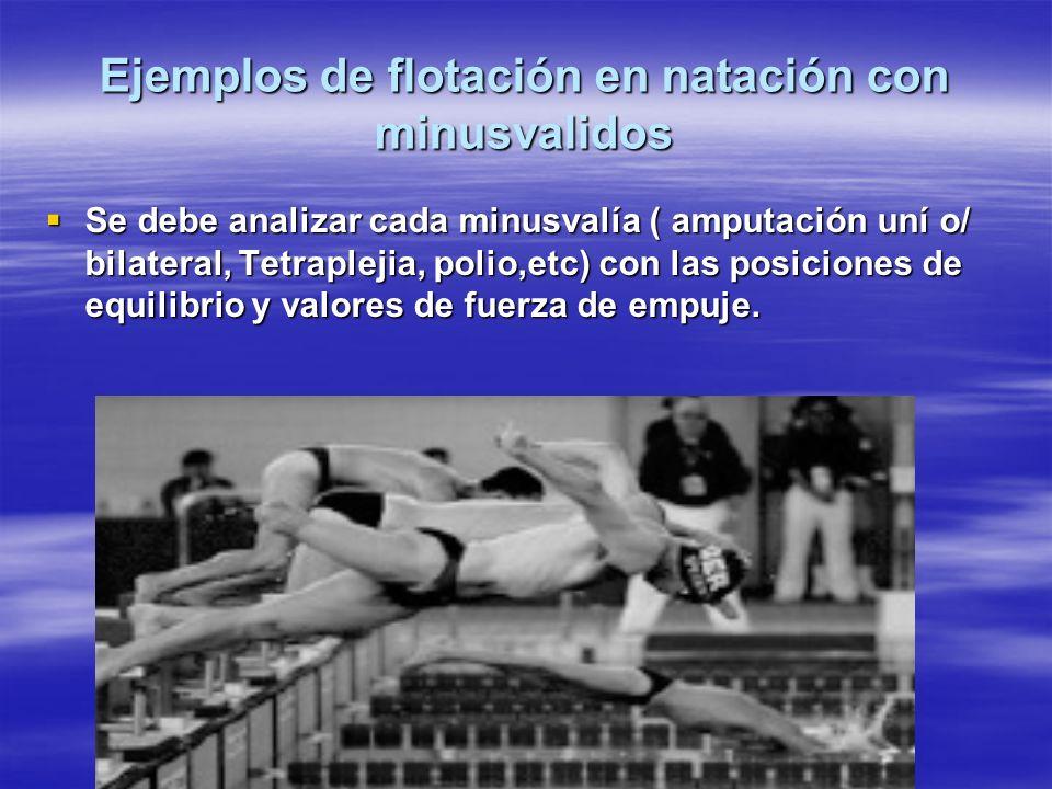 Ejemplos de flotación en natación con minusvalidos