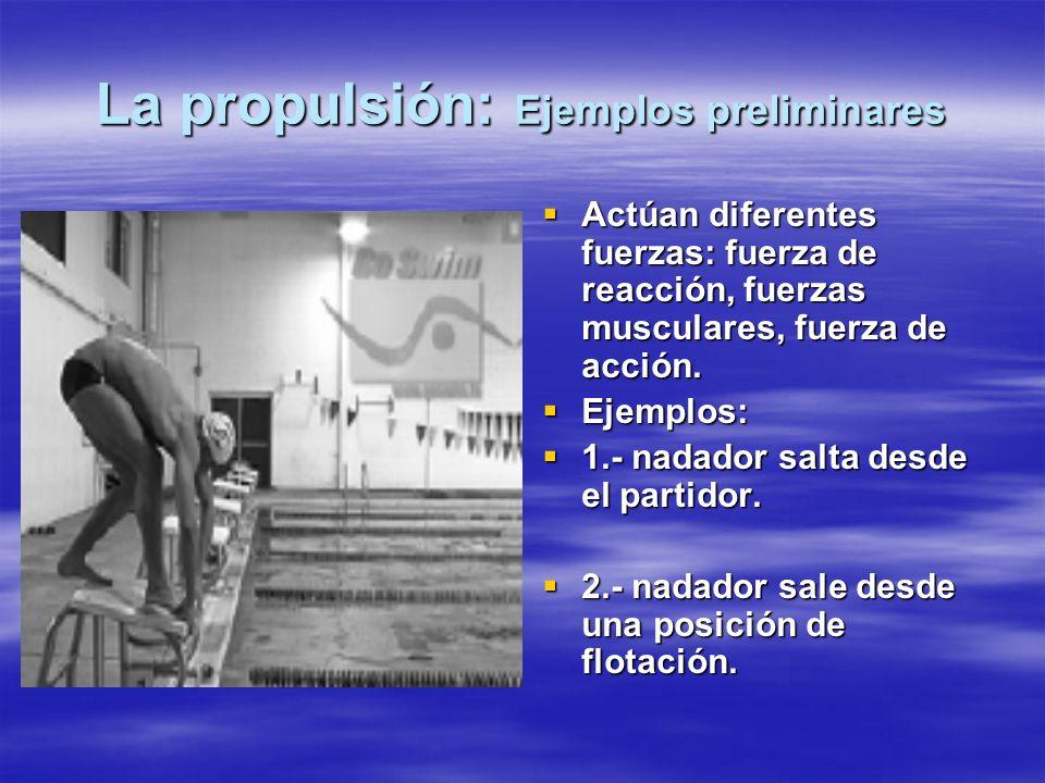 La propulsión: Ejemplos preliminares