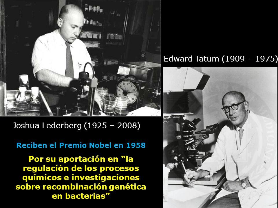 Reciben el Premio Nobel en 1958