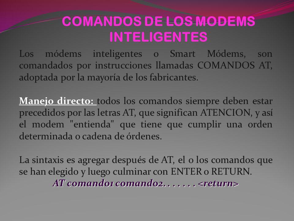 COMANDOS DE LOS MODEMS INTELIGENTES