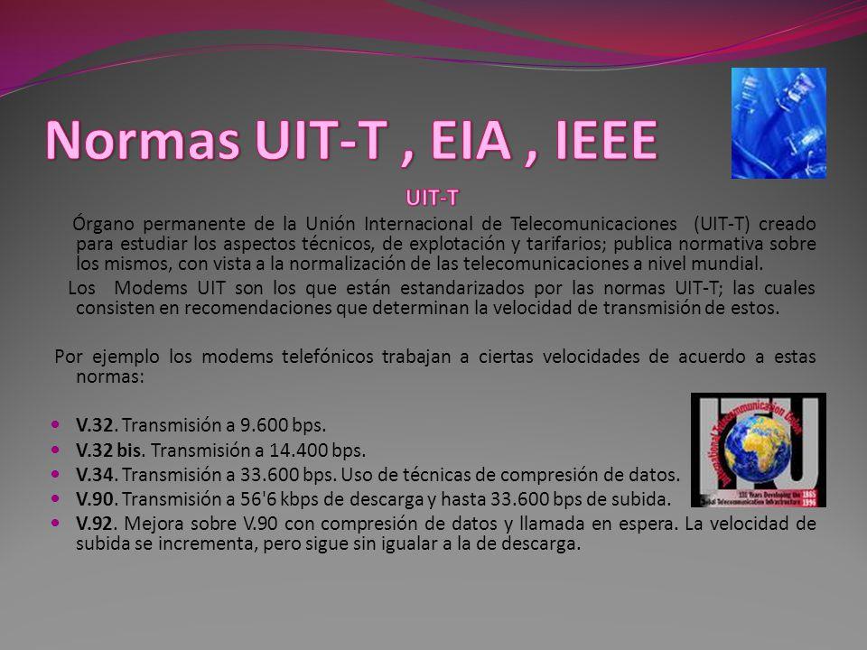 Normas UIT-T , EIA , IEEE UIT-T