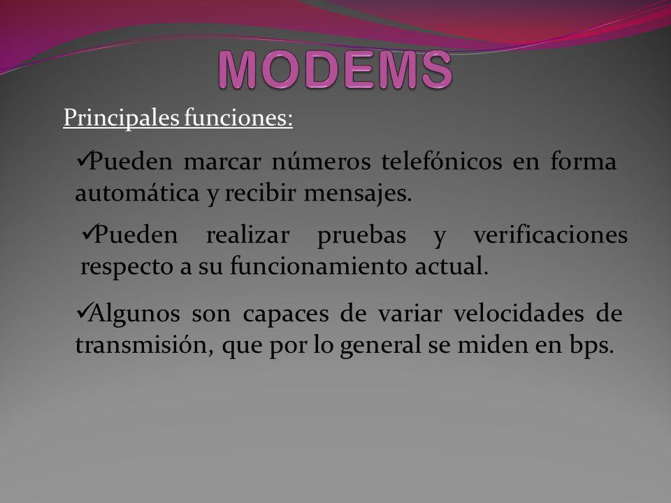 Principales funciones: