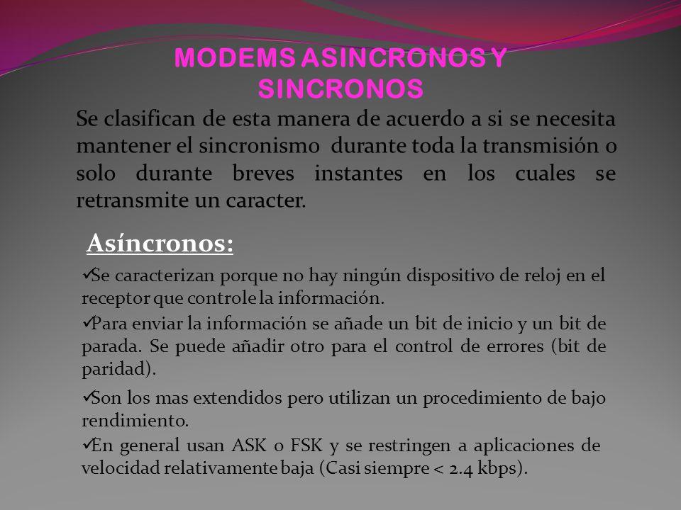 MODEMS ASINCRONOS Y SINCRONOS